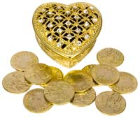 Las Arras  Wedding Tokens & Chest Gold