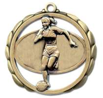 Soccer Award Female Athlete Medal