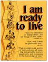 I Am Ready To Live Christ Centered Stewardship Poster