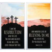 2 Church Resurrection Banners Set