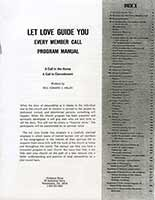 Let Love Guide You Program Manual