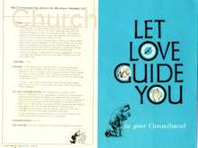 Let Love Guide You Commitment Bulletin (Pkg of 50)