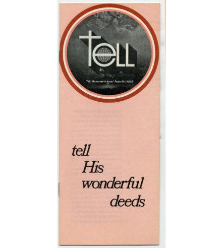 Tell His Wonderful Deeds Booklet   (25)
