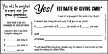 Church Single Budget Cards (Pkg of 50)