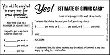 Church Single Budget Cards (Pkg of 50)