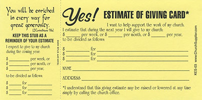 stewardship tithing bible brochures tracts