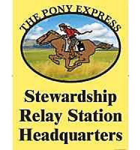 Large Pony Express Outside Poly Vinyl Banner