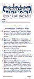 We Are Family Church Enclose Envelopes <br>(Pkg of 50)