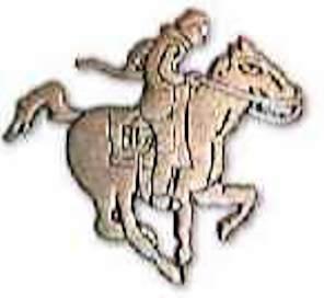 Antique Gold Pony Express Lapel Pin