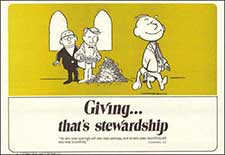 giving stewardship placemat