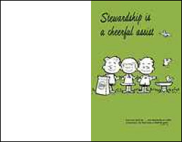 Stewardship Is A Cheerful Assist Bulletin Pack of 100