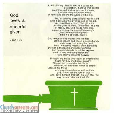 Fill'er Up Church Stewardship Brochure inside