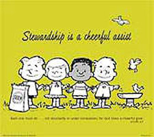 Stewardship Is A Cheerful Assist Poster
