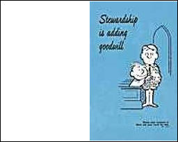 Stewardship Is Adding Goodwill Bulletin (Pkg of 100)