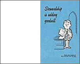 Stewardship Is Adding Goodwill Bulletin (Pkg of 100)