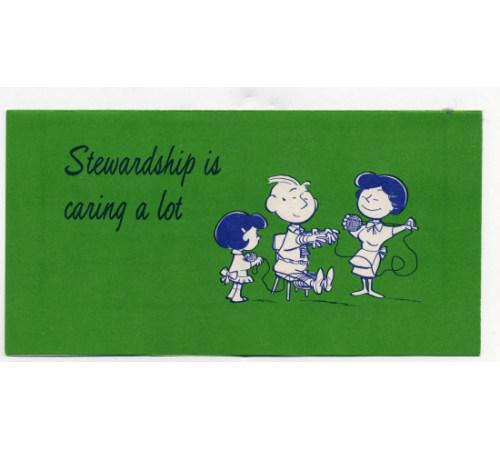 Stewardship Is Caring A Lot Church Leaflet
