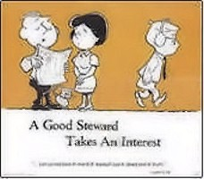 A Good Steward Takes An Interest Church Poster