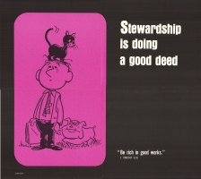 Stewardship is Doing a Good Deed Poster