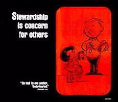 Stewardship Is Concern For Others Church Poster