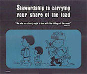 Stewardship Is Carrying Your Share of Load Church Posters