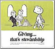 Giving... That's Stewardship Church Poster