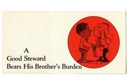 Good Steward Bears His Brother's Burden Leaflet (Pkg of 50)