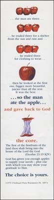 Apple Tithing Bookmarks (Pkg of 100)