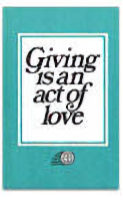 Giving Is An Act Of Love Leaflet