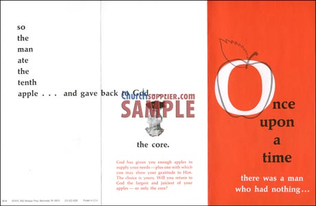 Once Upon a Time (Apple Leaflet ) Church Tithing  (50)