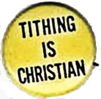 Tithing is Christian Buttons Pins (Pack of 20)