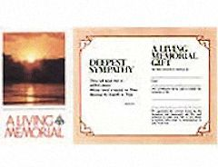 Sunset Cross Living Memorial Acknowledgement card (Pkg of 50)