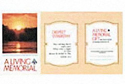Sunset Cross Living Memorial  card
