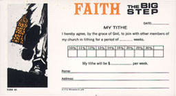 Faith the Big Step Commitment Card