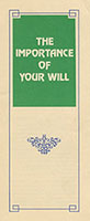 The Importance Of Your Will Leaflet