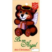 Christmas Angel Bear Tags for Salvation Army Corps (Pkg of 500)
