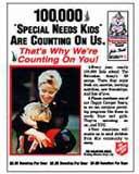Camping Bear Donation Poster