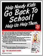Back-to-School Poster Salvation Army