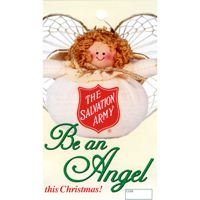 S. A. Rag Doll Be An Angel Christmas Tag (Pkg of 1000)