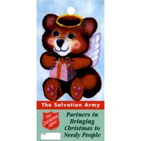 Skinny Mini Angel Christmas Tree Tag for Salvation Army (Pkg of 1000)