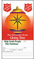 Salvation Army Giving Tree Christmas Ornament Tag (Pkg of 100)