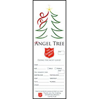 Christmas Tree Angel Tree Tags for Salvation Army (Pkg of 500)