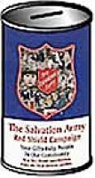 Salvation Army Donation Cans (Pkg of 75)