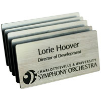 Engraved Plastic Name Badge with Personalization - 3 x 1.5 inch