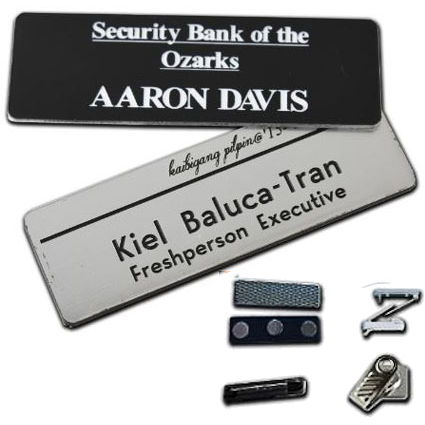 Custom Engraved Name Badge - 3 x 1.5 inch
