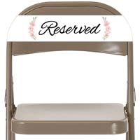 12 Reserved Chair Signs, Reserved Seating Signs (Disposable)