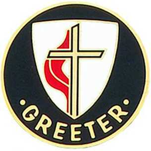 United Methodist Greeter Pin