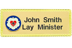 Personalized Lutheran Ministry Badge