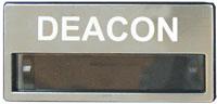 Silver Deacon Name Badge