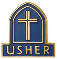 Usher Magnetic Lapel Badge Christian