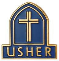Usher Magnetic Lapel Badge Christian